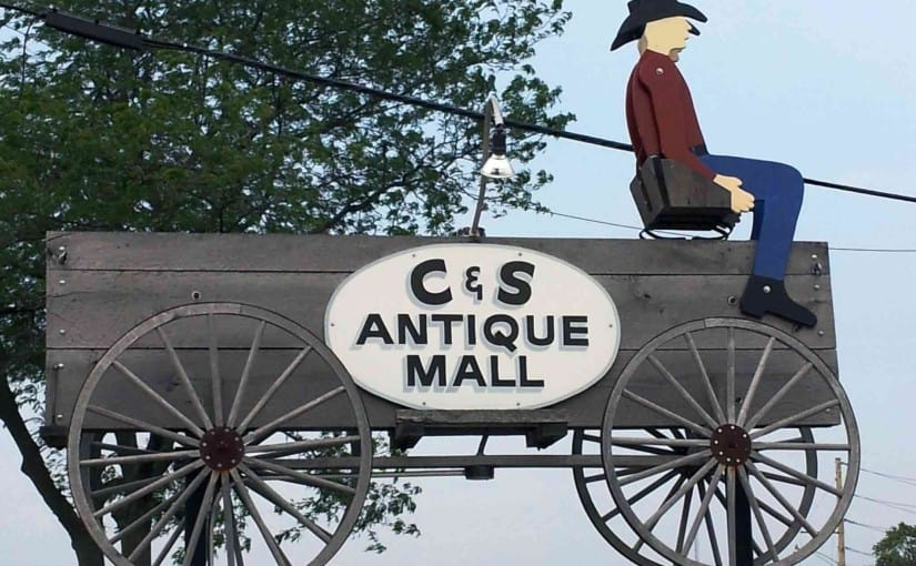 C&S Antique Mall Store Sign