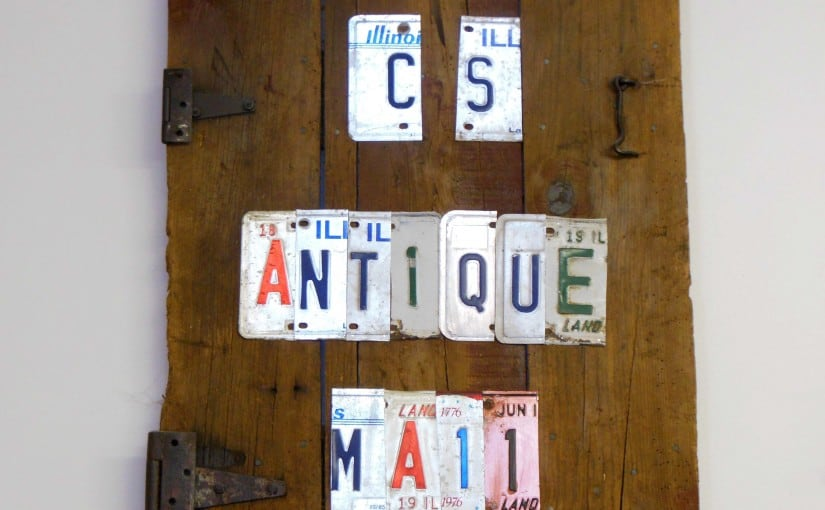 C&S Antique License Plate Sign