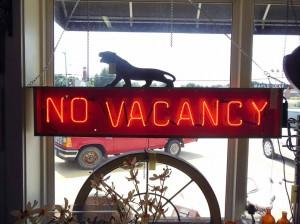Anique-No-Vacancy-Sign